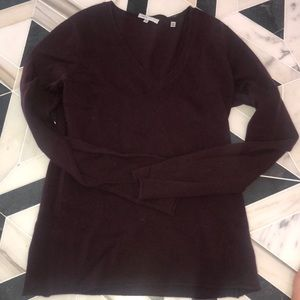 Vince sweater maroon/burgundy sweater 100%